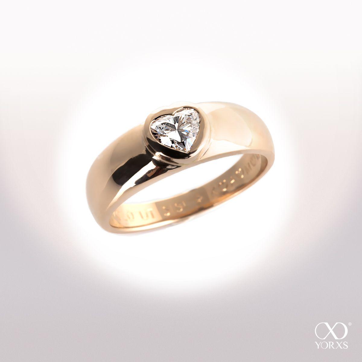 Diamantring herz gold  Amalia | Herz, Rotgold und Diamanten