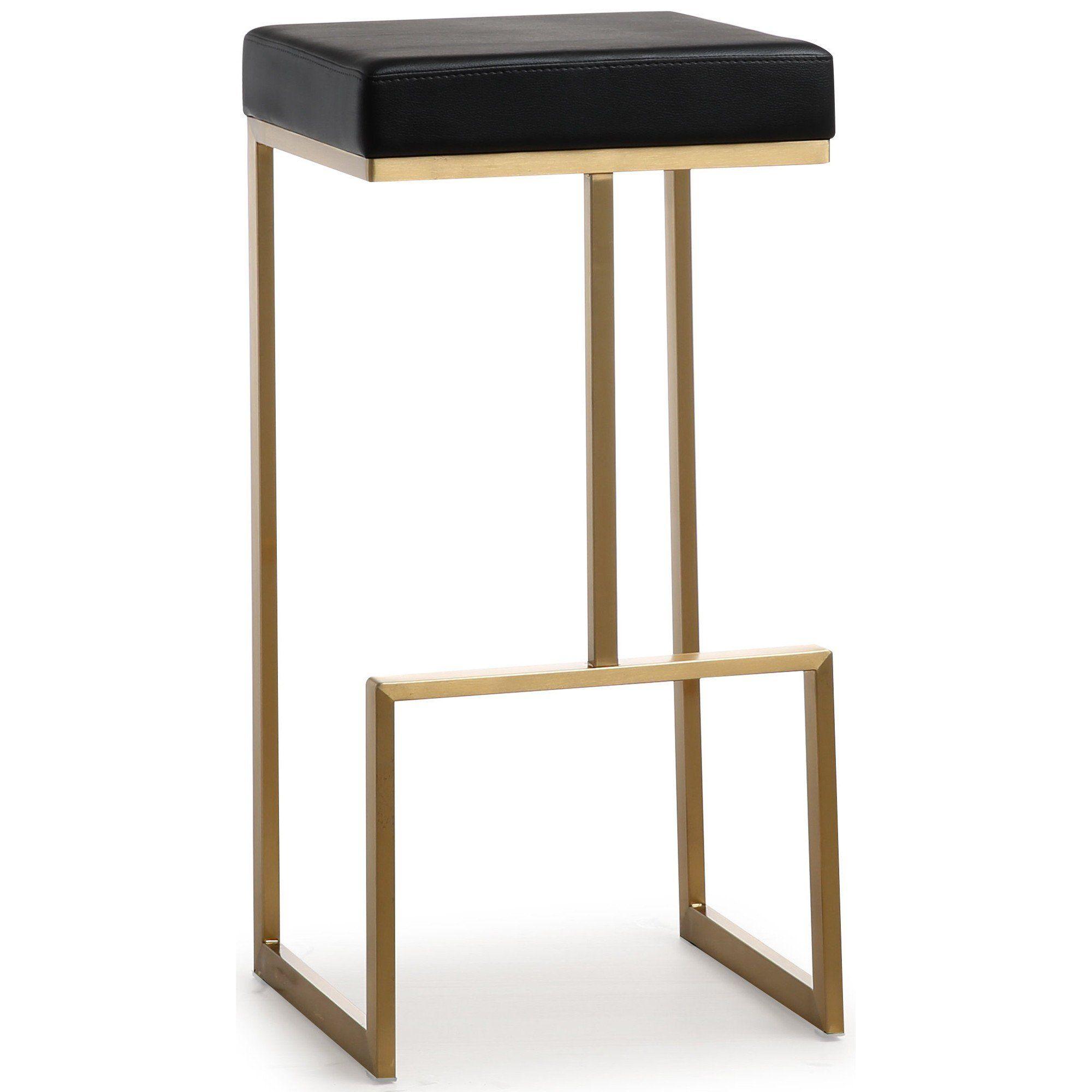 Phenomenal Ferrara Bar Stool Black Gold Base Set Of 2 In 2019 Unemploymentrelief Wooden Chair Designs For Living Room Unemploymentrelieforg