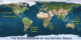 7 natural wonders of the world, good, now I have a map!