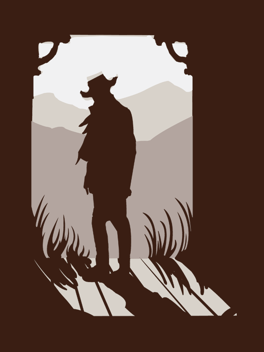 western silhouettes old western