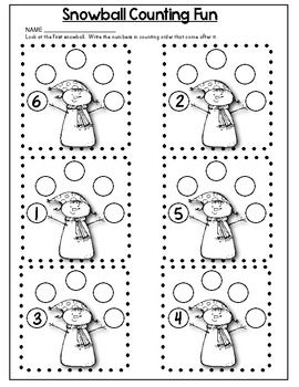 Snow Math Fun Math Work Pages That Support Common Core With