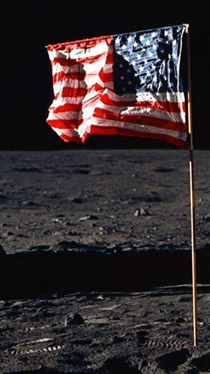 USA Flag Moon iPhone 6 Wallpaper Usa wallpaper, American
