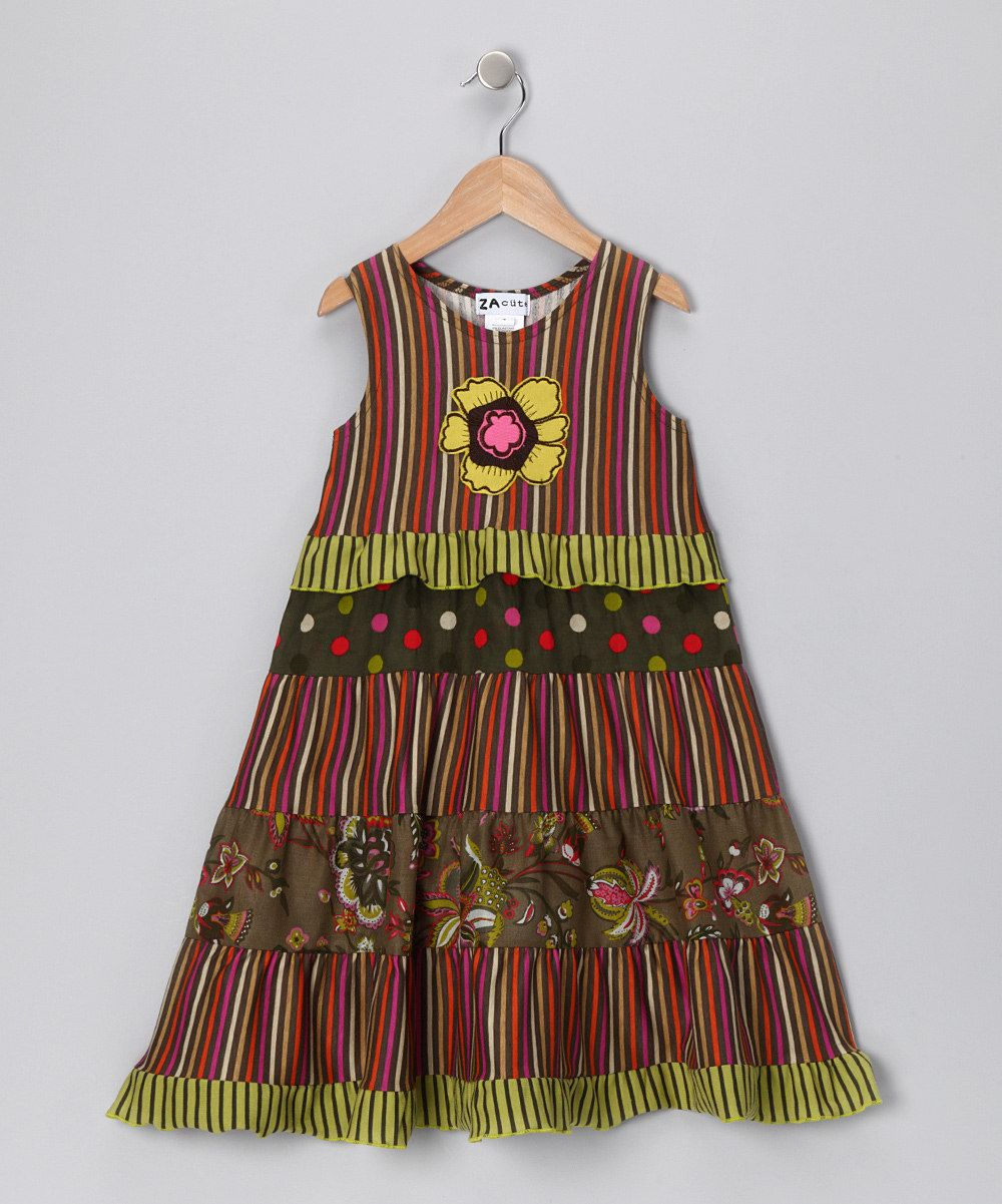 Green Floral Kara Dress - Infant, Toddler & Girls