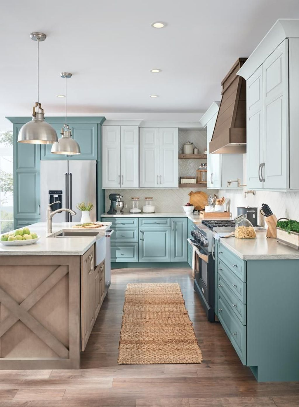 Gorgeous Farmhouse Style Kitchen Backsplash Ideas But In Navy