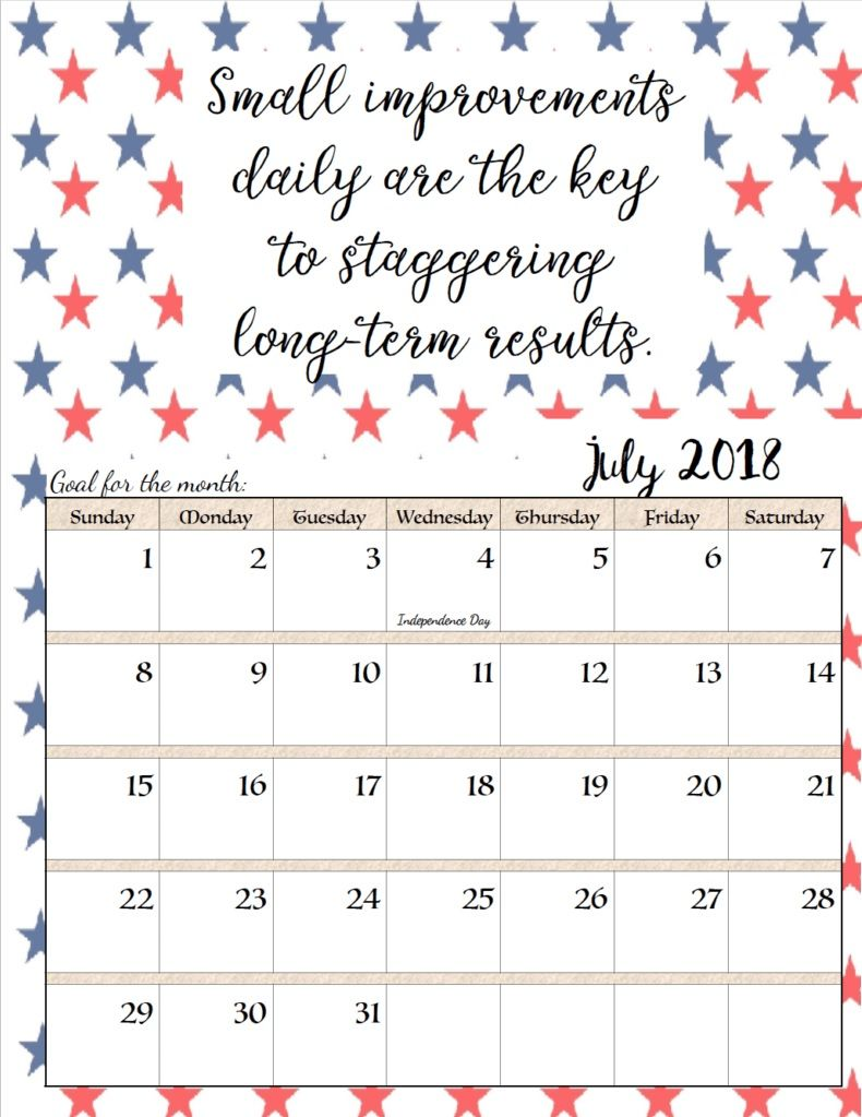 Calendar Planning Quotes : Motivational july quotes calendar