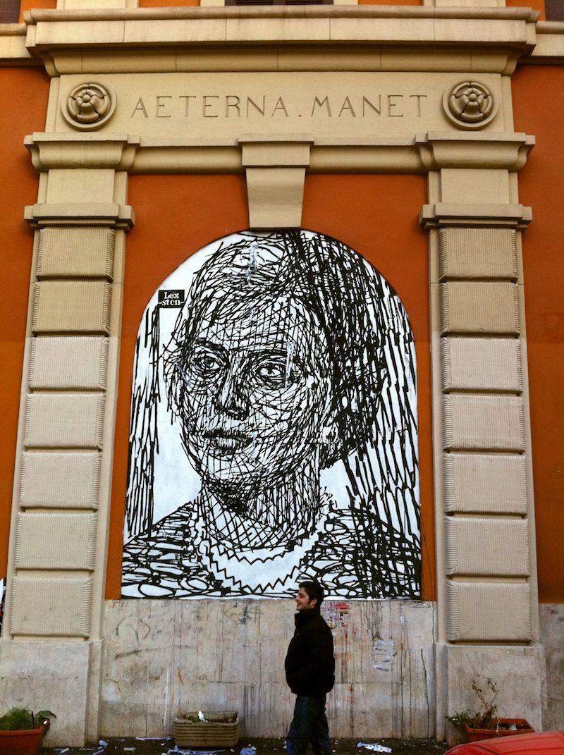 Sten and lex in in piazza dei sanniti san lorenzo italy street street art