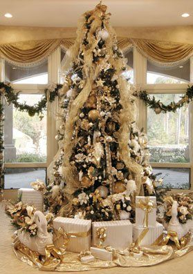 Antique Gold Christmas Table Decorations Google Search