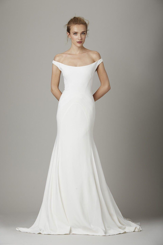 Simple off white wedding dresses  Lela Rose Herbst  Brautkollektion  All Things Wedding
