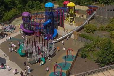 Hyland Park Play Area under renovation | Twin Cities - Black and Dew