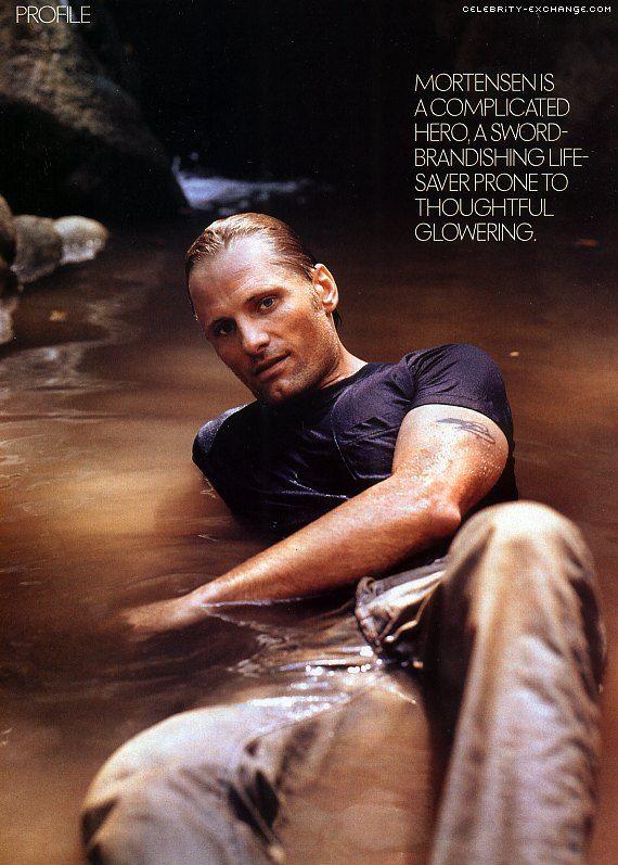 Viggo Mortensen wet and dirty! hello!!