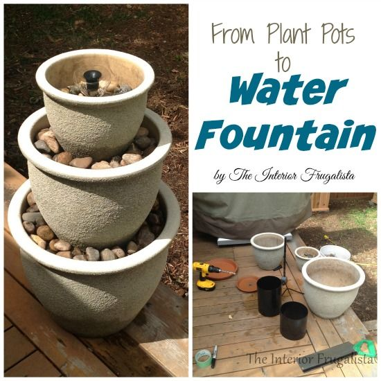 How To Turn Plant Pots Into A Water Fountain Diy Water Fountain Diy Fountain Water Fountain