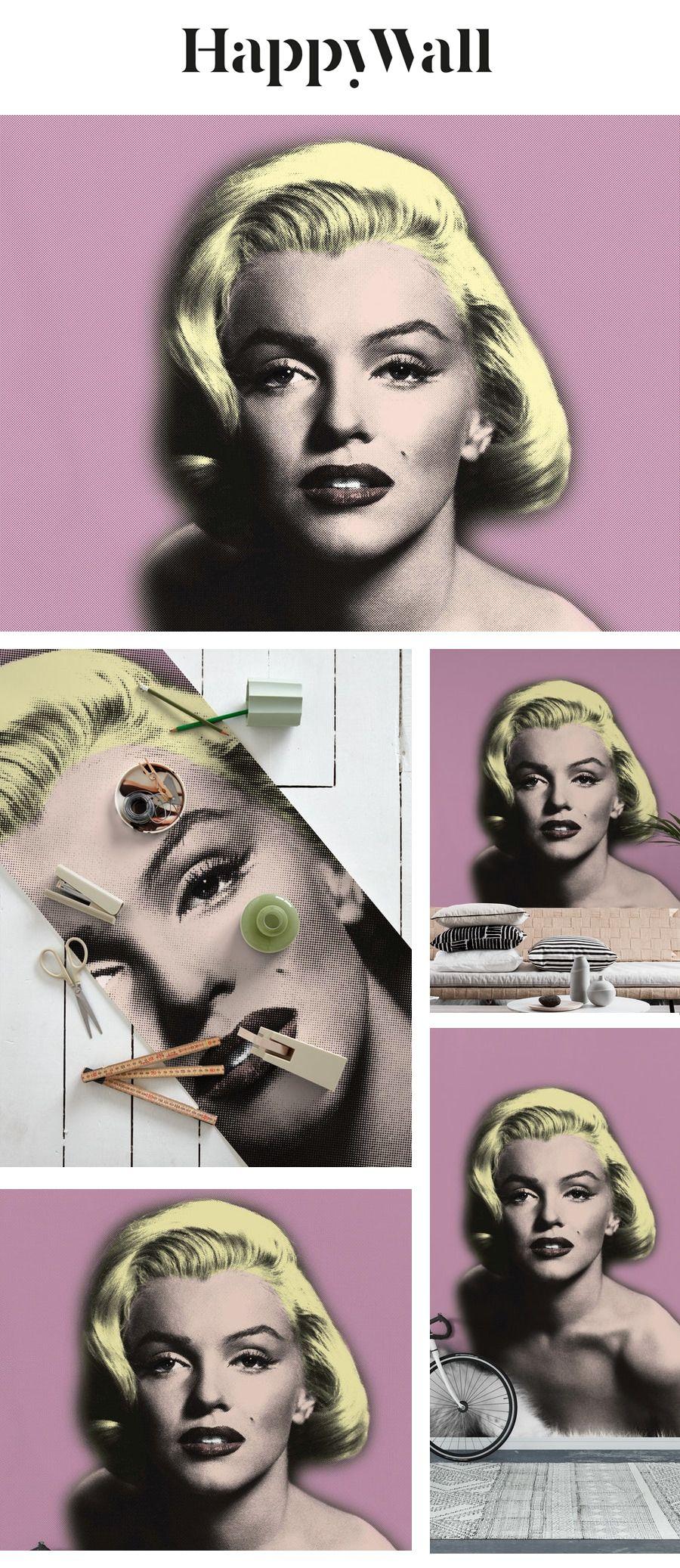 Pink Marilyn Monroe Wall mural Marilyn monroe wallpaper