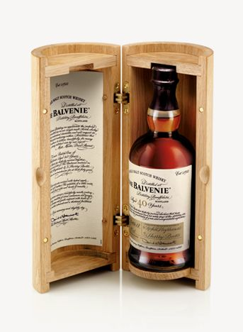 The Balvenie 40 Year Old Scotch Whisky / design by here. [london]