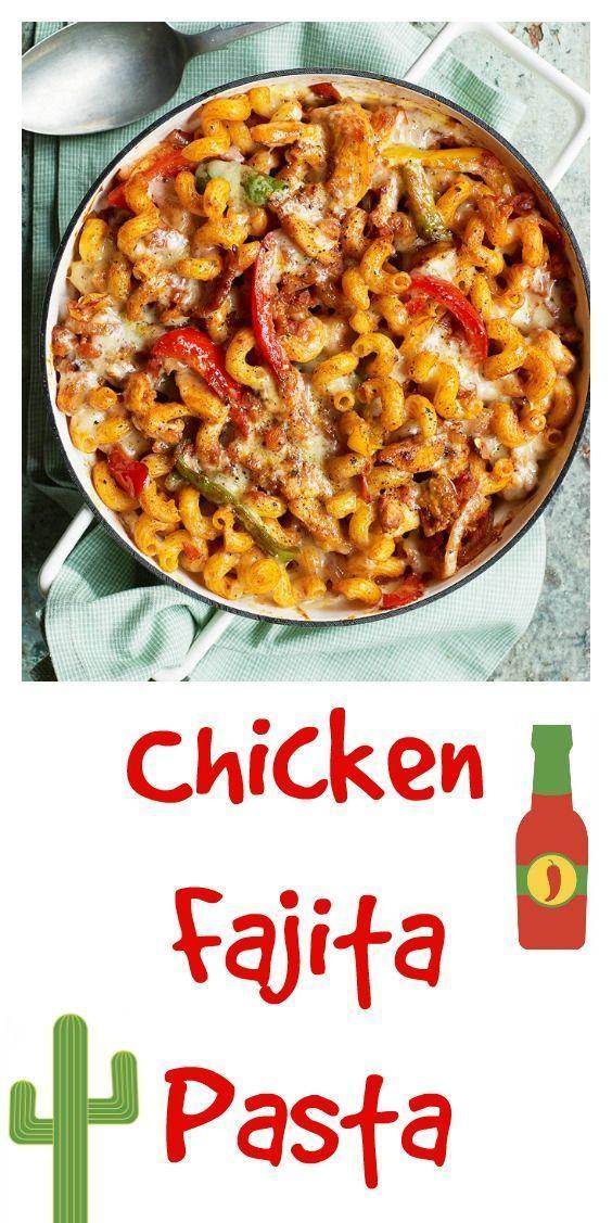 Chicken fajita pasta bake
