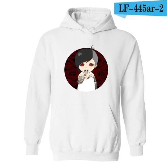 Tokyo Ghoul Pullover Hipster Hooded Sweater Top Casual Pullover Sports Sweatshirts Fall Winter Blouses