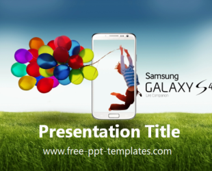 Samsung Galaxy S4 Point Template Is A Blue Which You Can Use To Make An Elegant And Professional Ppt Presentation