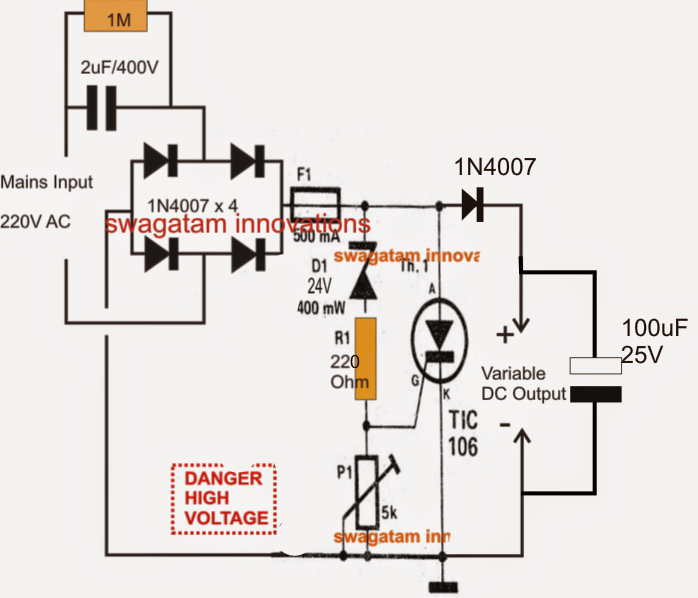 The post explains a simple variable transformerless power supply the post explains a simple variable transformerless power supply circuit which is also surge protected and cheapraybanclubmaster Choice Image