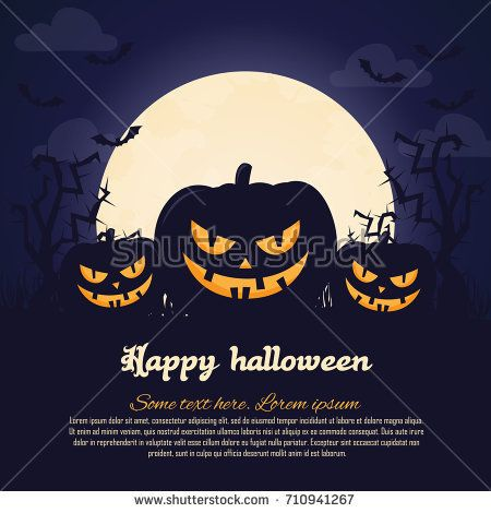 Halloween poster Invitation for party Mix of Various Spooky - halloween poster ideas