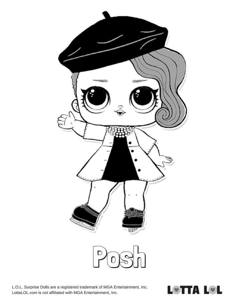 Posh Coloring Page Lotta Lol Lol Dolls Coloring Pages Kids Printable Coloring Pages