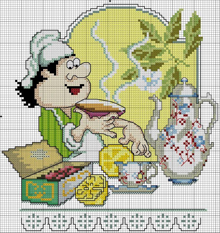 Вышивка крестиком схемы для кухни картинки