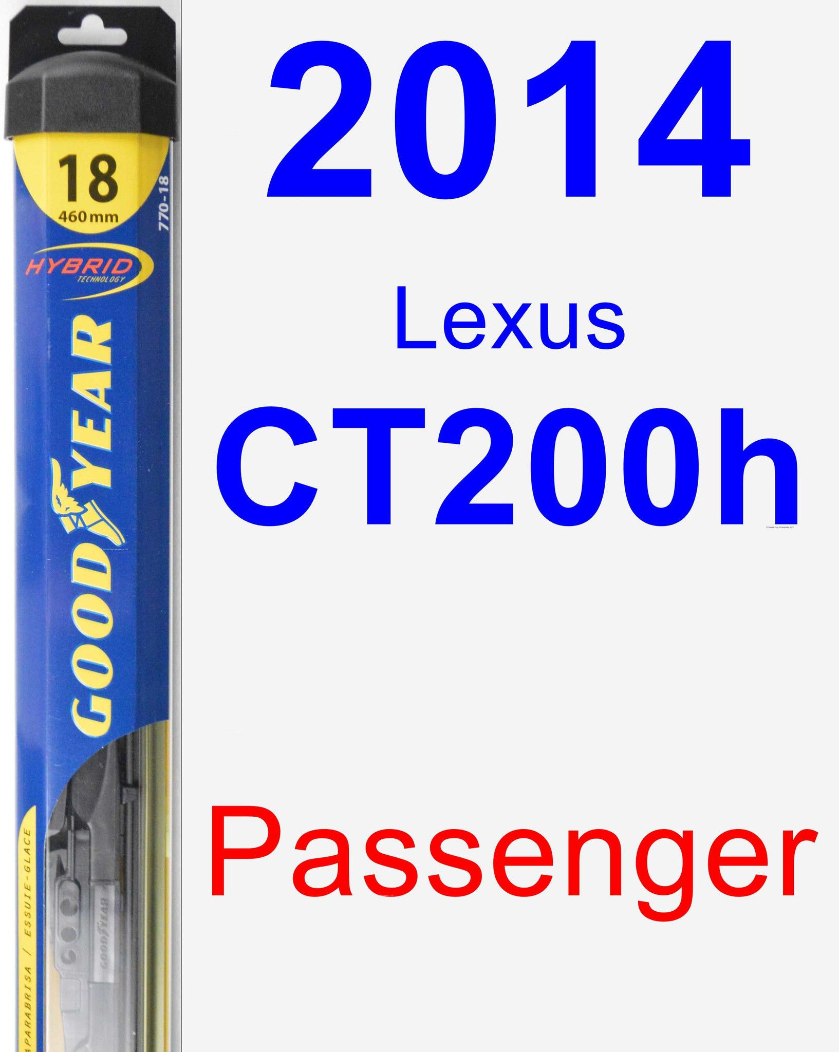 Passenger Wiper Blade For 2014 Lexus Ct200h Hybrid Wiring Diagram