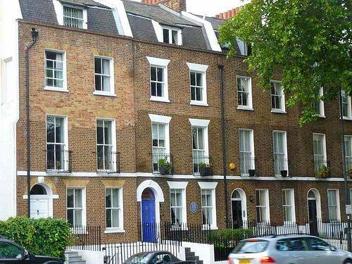 Georgian Terrace Houses Exteriors Lambeth Road London Se1
