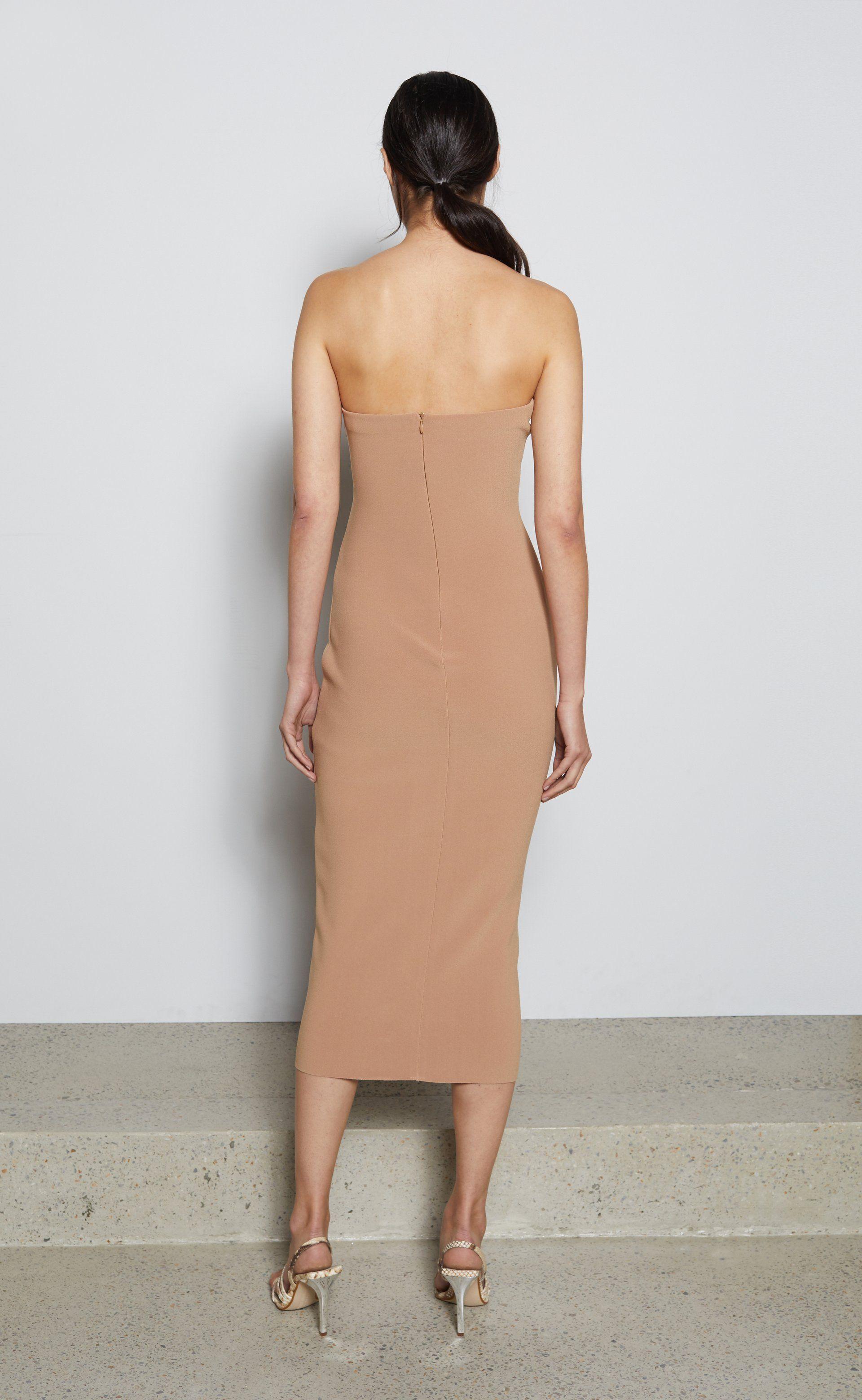 Elke Strapless Midi Dress Caramel Bec Bridge Midi Dress Dresses Strapless Midi Dress [ 3120 x 1920 Pixel ]