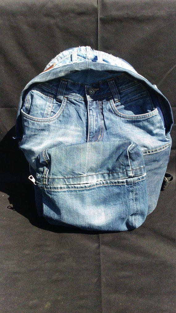 Jeans rugzak van marithagen op Etsy