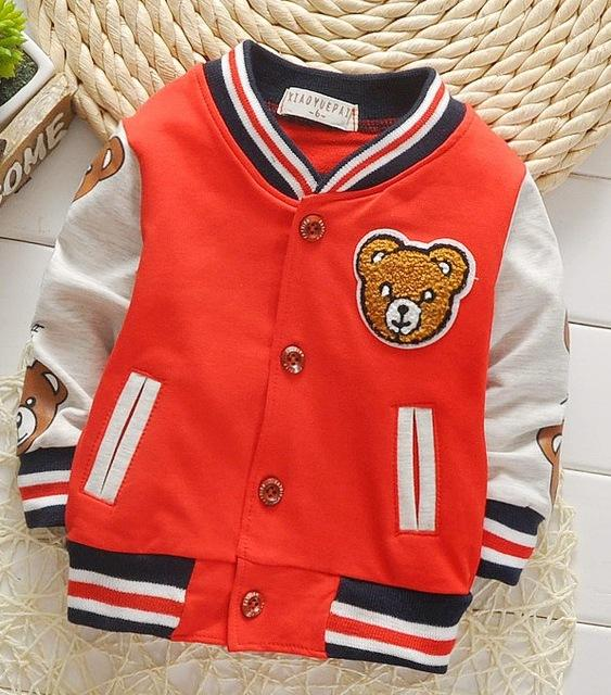 008ecf72 4 Colors Cool Baby Autumn Bomber Jacket Flying Bear Cotton ...