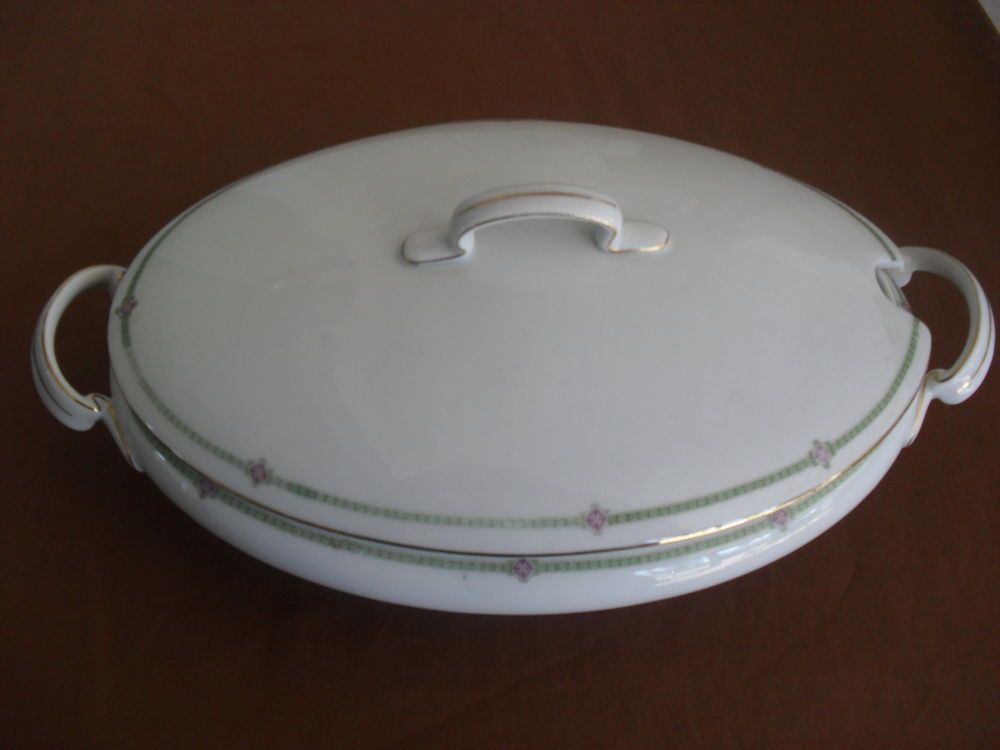 Auflaufformen  Antique Hutschenreuther Bavaria Porcelain Casserole Dish with ...