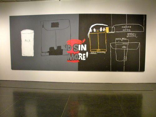 collaboration between Basquiat + Warhol. Brooklyn Musuem. image: melissa belongea