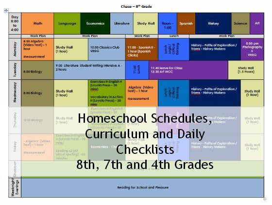 Homeschool Curriculum, Schedule and Checklist 2013 - 2014