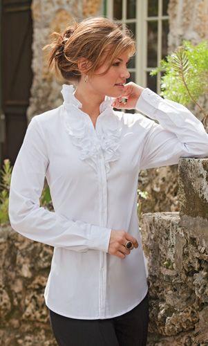 Elegant Ruffle Blouse Tall Women S Clothes Ladies Fall Clothing