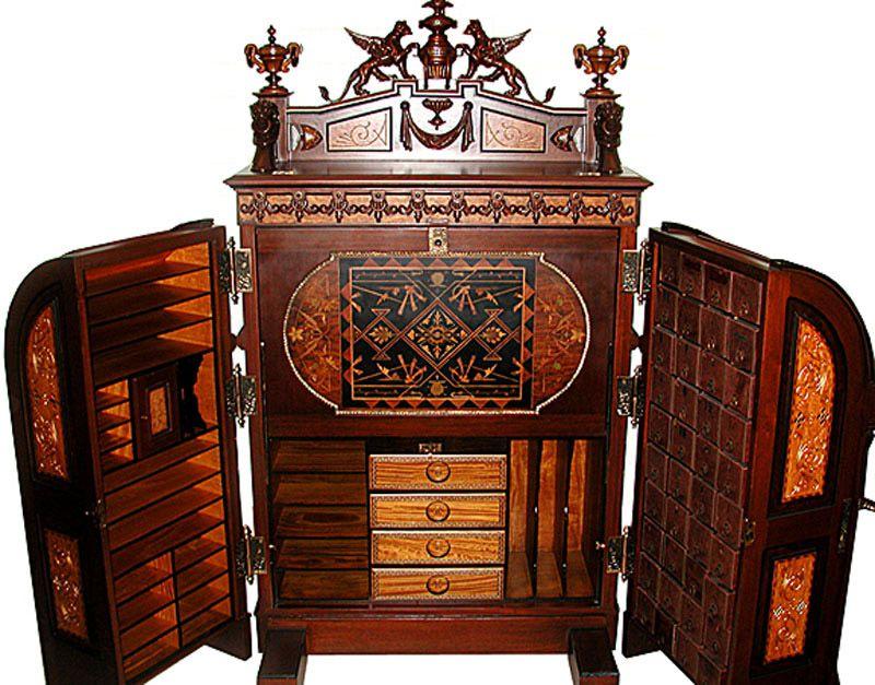 Wooton Desk Gryphon Cir 1874 Od489 Wood Turning