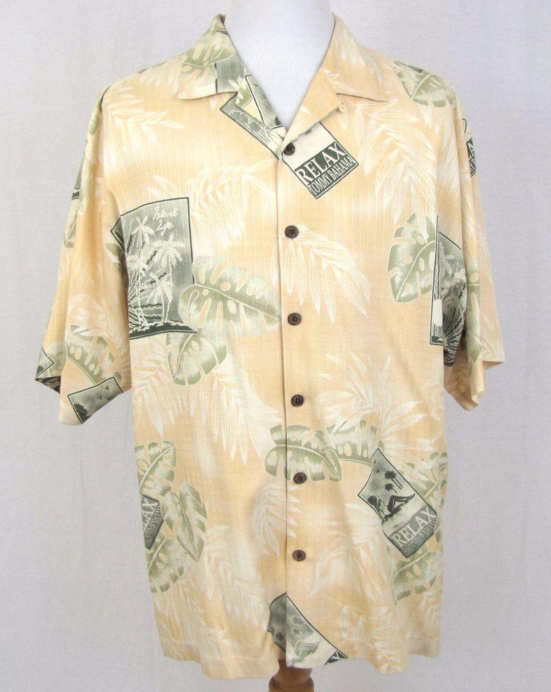 bd0b49c6484b Tommy Bahama Hawaiian Shirt XL Bikini Pinup Island Life Floral 100% Silk  Camp #TommyBahama #Hawaiian