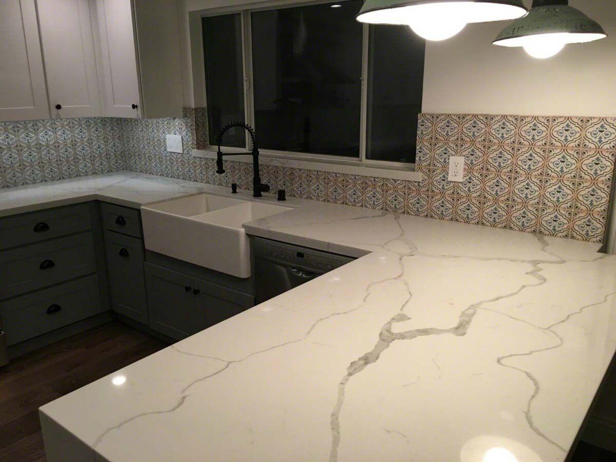 Calacatta Classique Quartz Slab Quartz Countertops Quartz Kitchen Countertops Calacatta Quartz