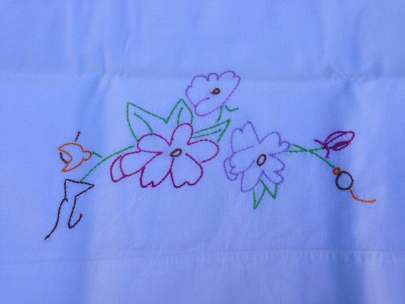 Hey, I found this really awesome Etsy listing at https://www.etsy.com/listing/209862580/vintage-embroidered-purple-flower