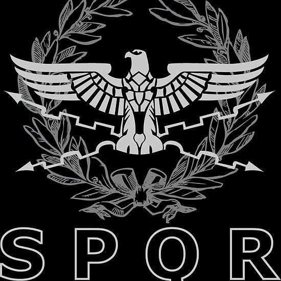 SPQR The Roman Empire Emblem | Roman empire, Roman myth, Roman