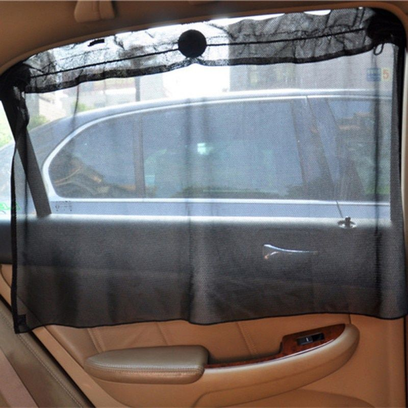2 Pack Car Sun Shade Side Window Curtain Sun Uv Protection Mesh