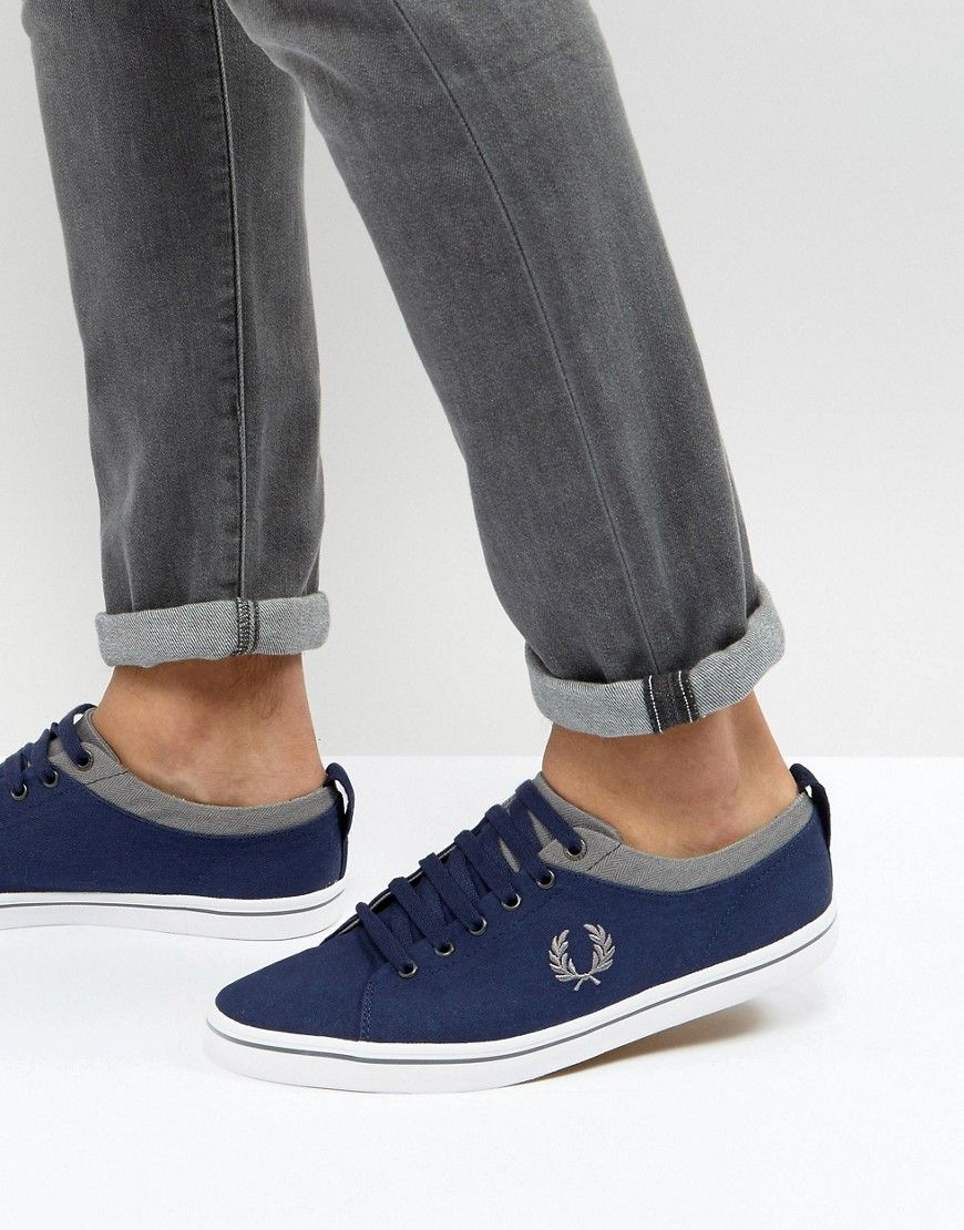 Fred Perry Hallam Twill Sneakers | Products | Fred Perry ...