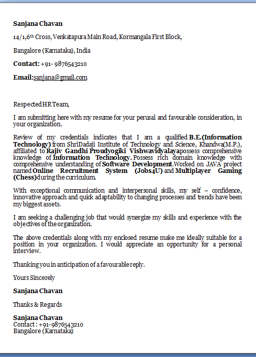 Cover Letter Format Excellent Job Application Cover Letter  Email