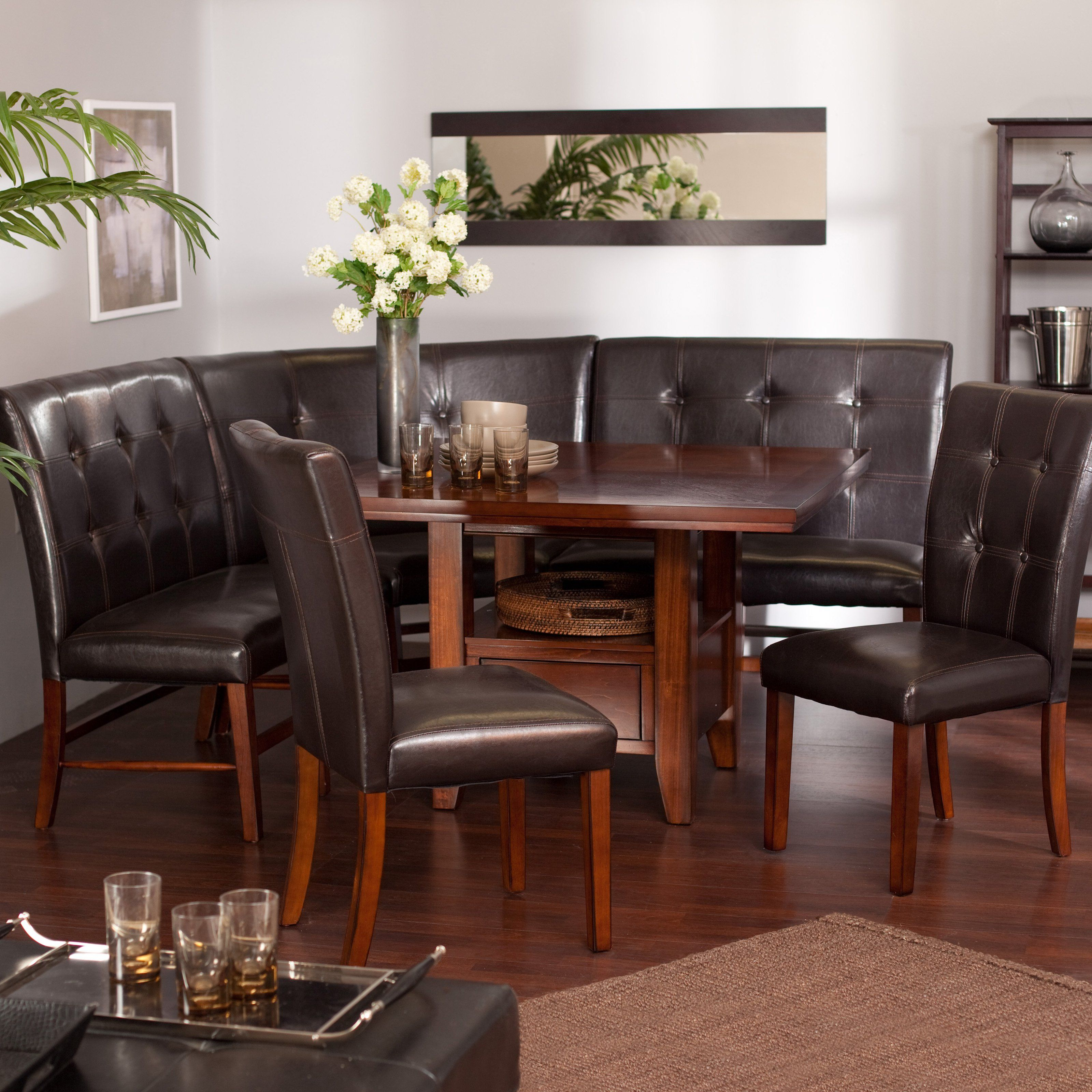 Beau Ravella 6 Piece Dining Nook Set   Whether Breakfast, Brunch, Appetizers, Or  Cocktails Are On Your Menu For The Day Or Evening, The Ravella 6 Piece  Breakfast ...