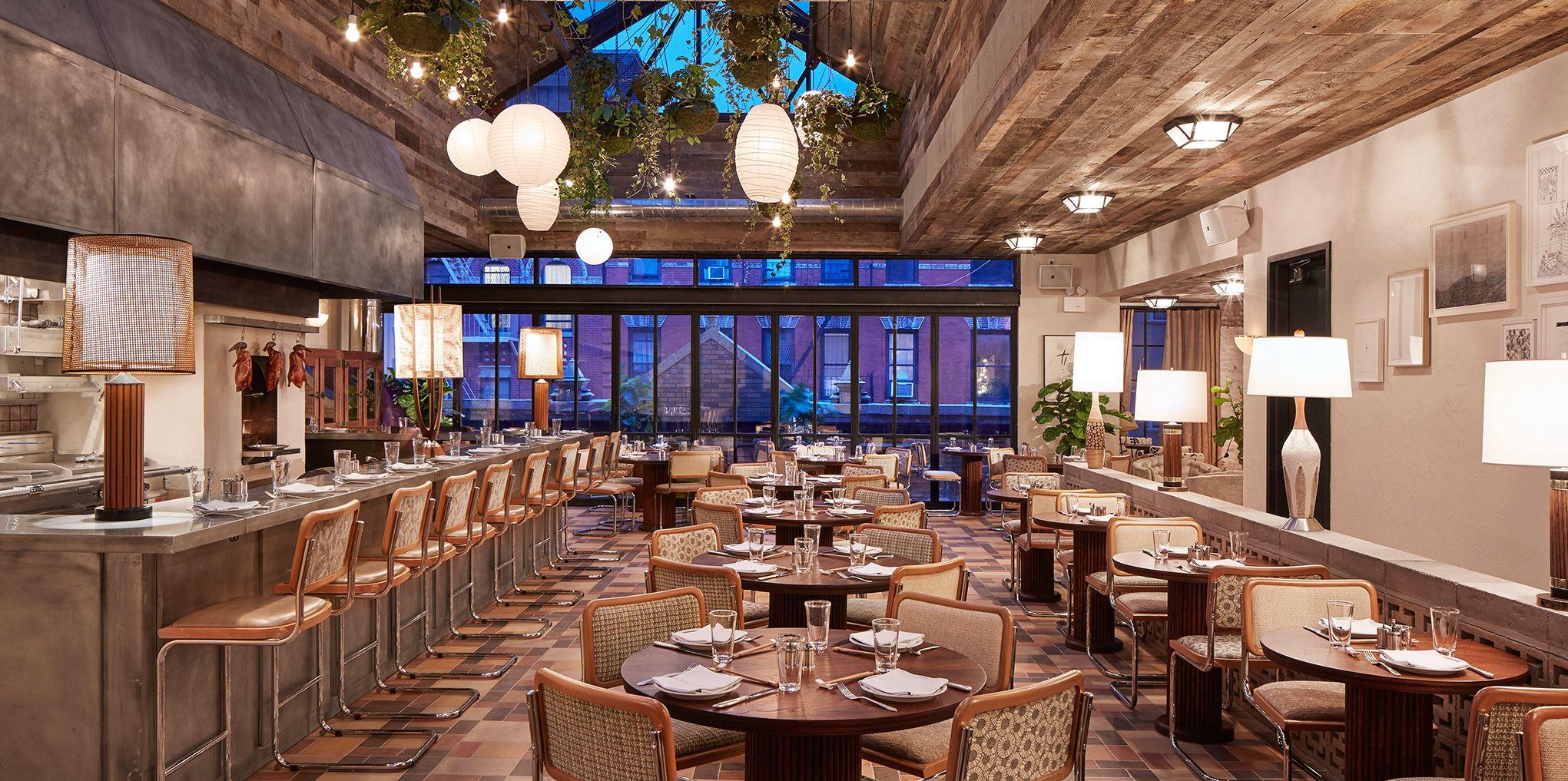 Retractable Rooftop Garden Restaurant DUCKEDUP Ludlow House NY