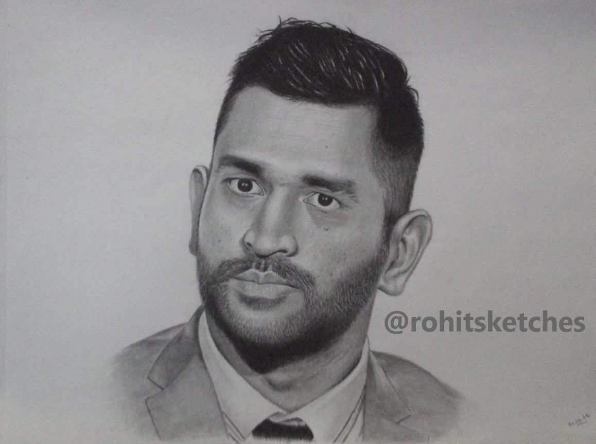 Ms dhoni drawing