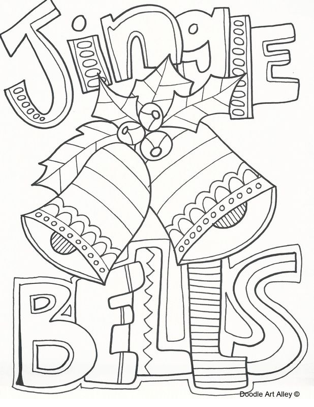 Jingle Bears Coloring Page … | Pinteres…