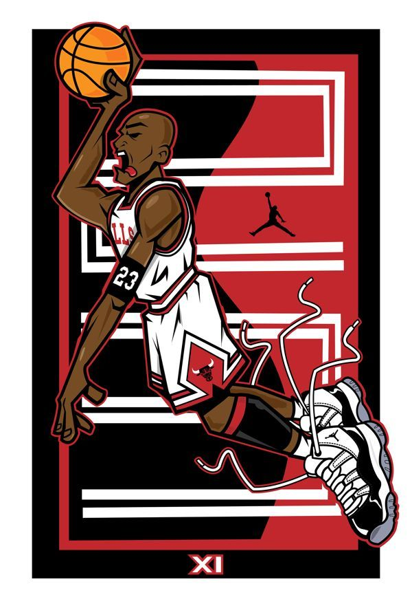 Always love creating a new MJ Piece this art features Jordan 11 Released in  the shoe brought success to Jordan's returning career to basketball winning  MVP ...