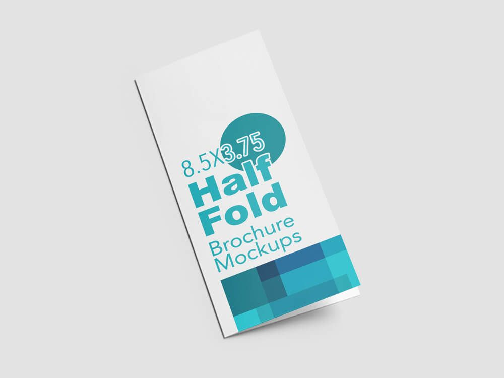Free Download Half Fold Vertical Brochure Mockups On  Mockup