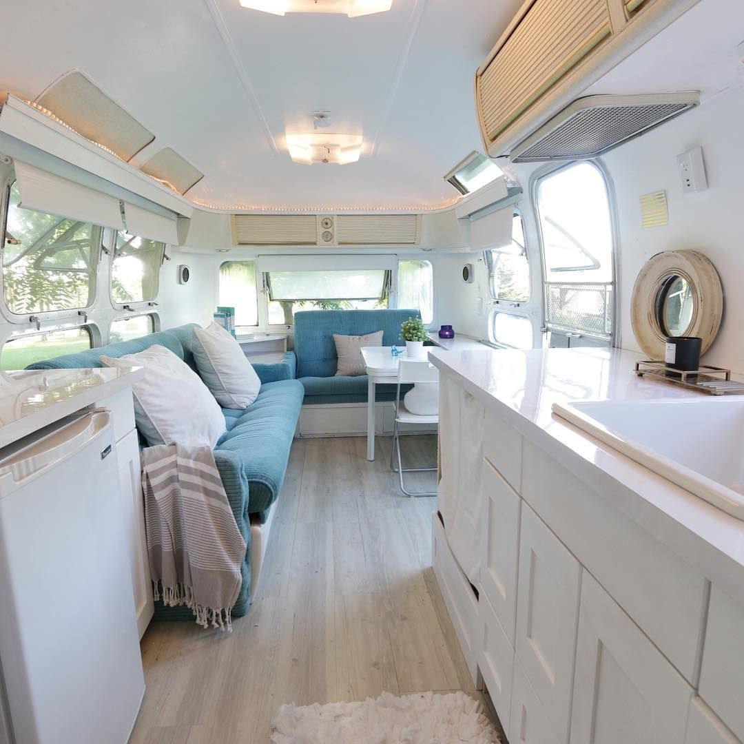 airstream blue couches | Adore | Pinterest | Airstream and Airstream ...