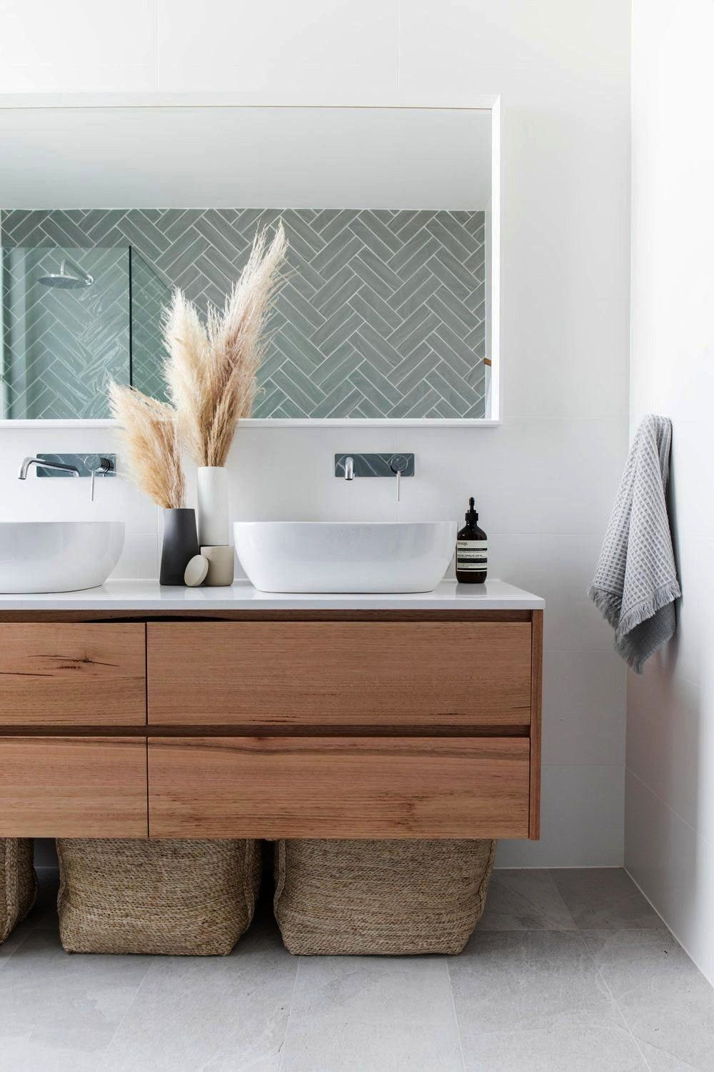 Twelve Investment Bathrooms  aubathrooms2 in Twelve Investment Bathrooms  aubathrooms Soho Mirror  The Art And Framing Company Herringbone shower tile is on trend See mor...