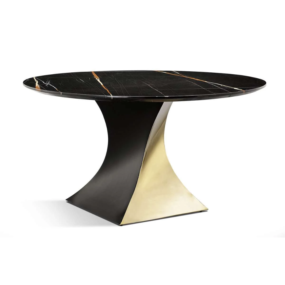 Modern Rulla Black Gold Marble Dining Table In 2020 Dining Table